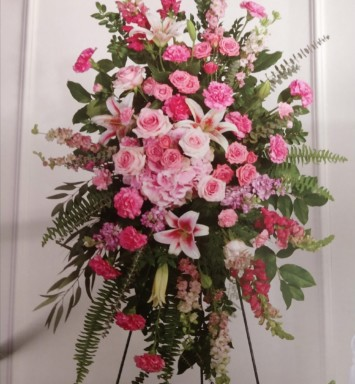 Flower All In Blooms Florist funeral flower arrangement Roses