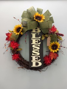 Flower All In Blooms Florist blessed wreath Roses