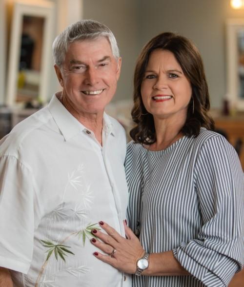 Brunswick florist Jimmy and Lana Harper