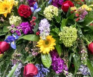 Flower All In Blooms Florist colorful arrangement Roses