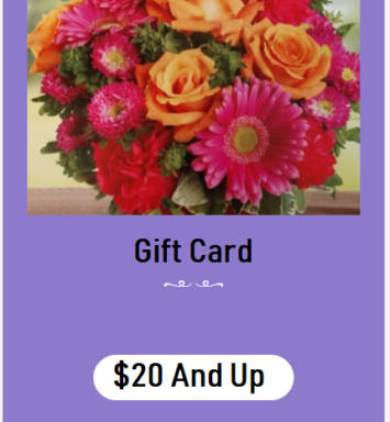 Flower All In Blooms Florist gift card Roses